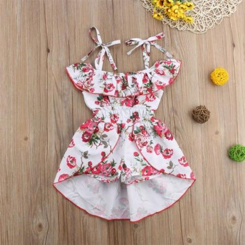 Floral Toddler Kids Baby Girl Romper Jumpsuit
