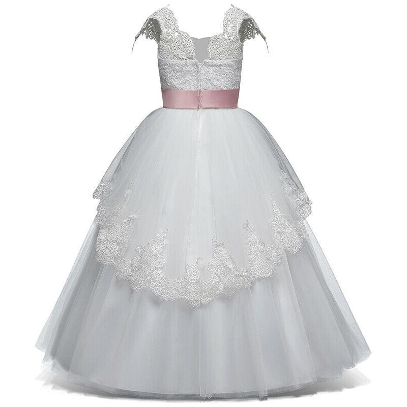 Flower Girl Lace Formal Party Wedding