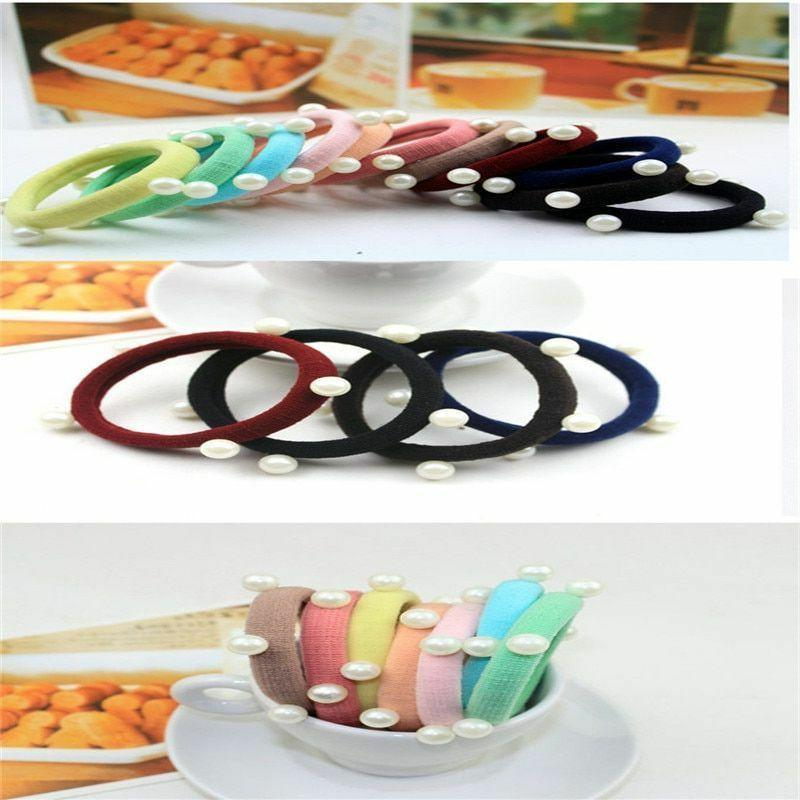 Girl Headdress Tie Clothing Accessories High Rubber Band For
