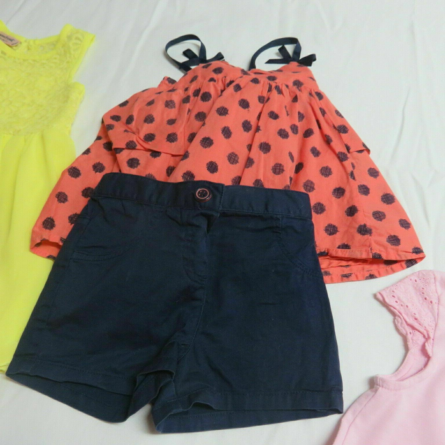 Girls 10 Pce Clothing Lot Guess Gap Grouping Size 2T