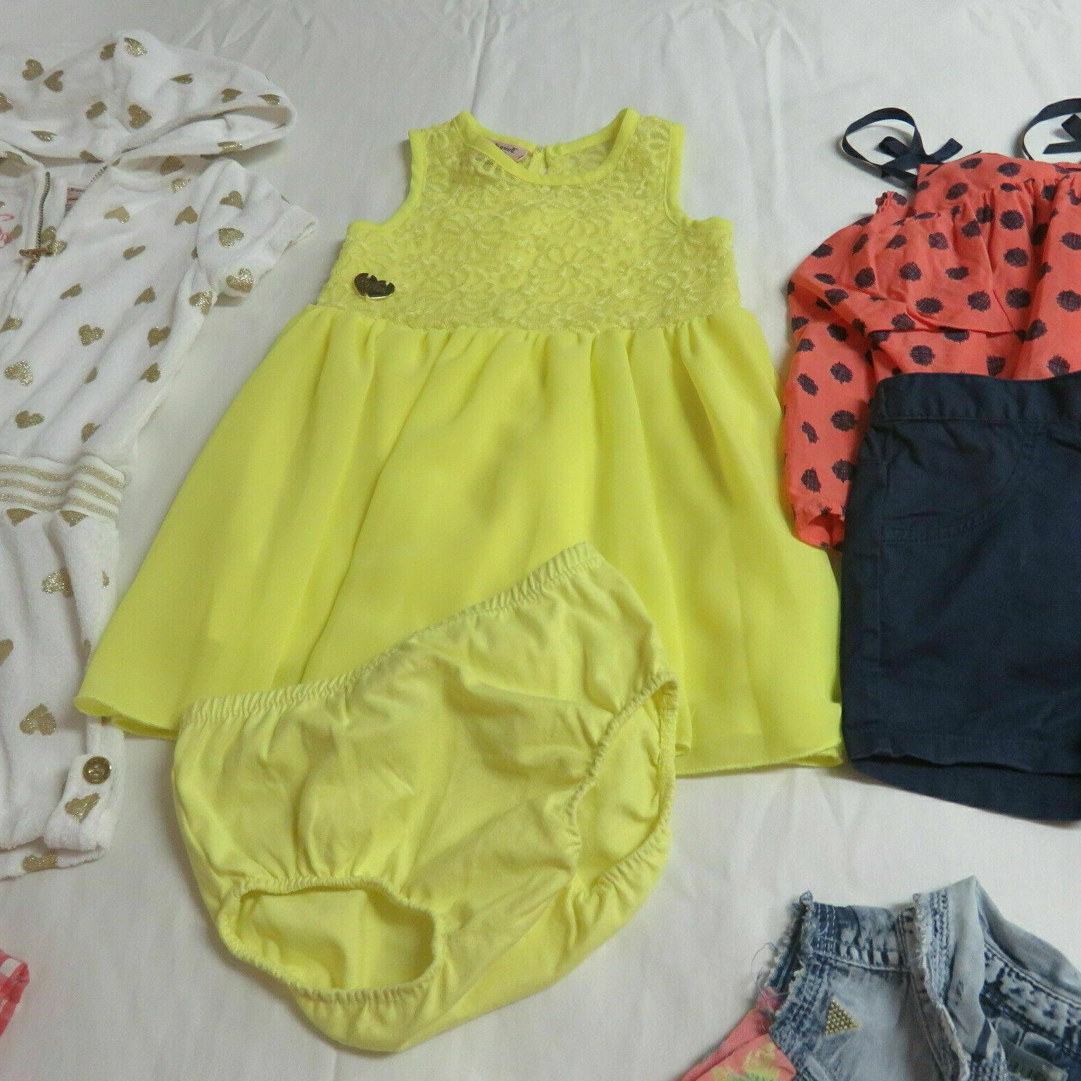 Girls 10 Pce Lot - Juicy Couture, Guess Size 2T