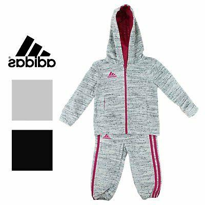 Adidas Girls 2 Piece Jacket Pants Athletic Tracksuit Set