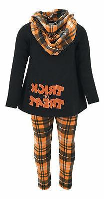 Girls Plaid Halloween Outfit Boutique Toddler Kids Clothes T