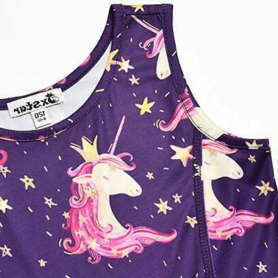 Girls&Doll Matching Dresses Unicorn Clothes 6-7 Navy Unicorn