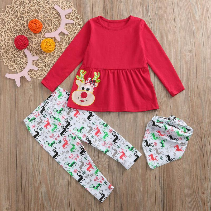 Girls Baby Deer Dresses Outfits Clothing