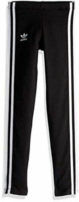 adidas Originals Girls' Big 3-Stripes Leggings