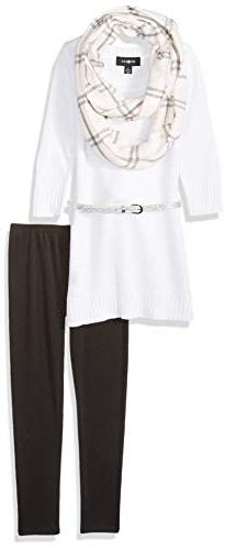 Amy Byer Girls' Big 7-16 Sweater and Legging Clothing Set Ou