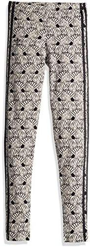 adidas Originals Girls' Big Zebra Print Leggings, Clear/Brow
