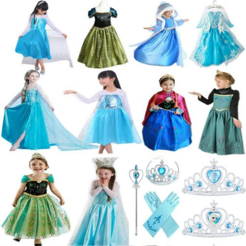 Girls Princess Dress Costume Fancy