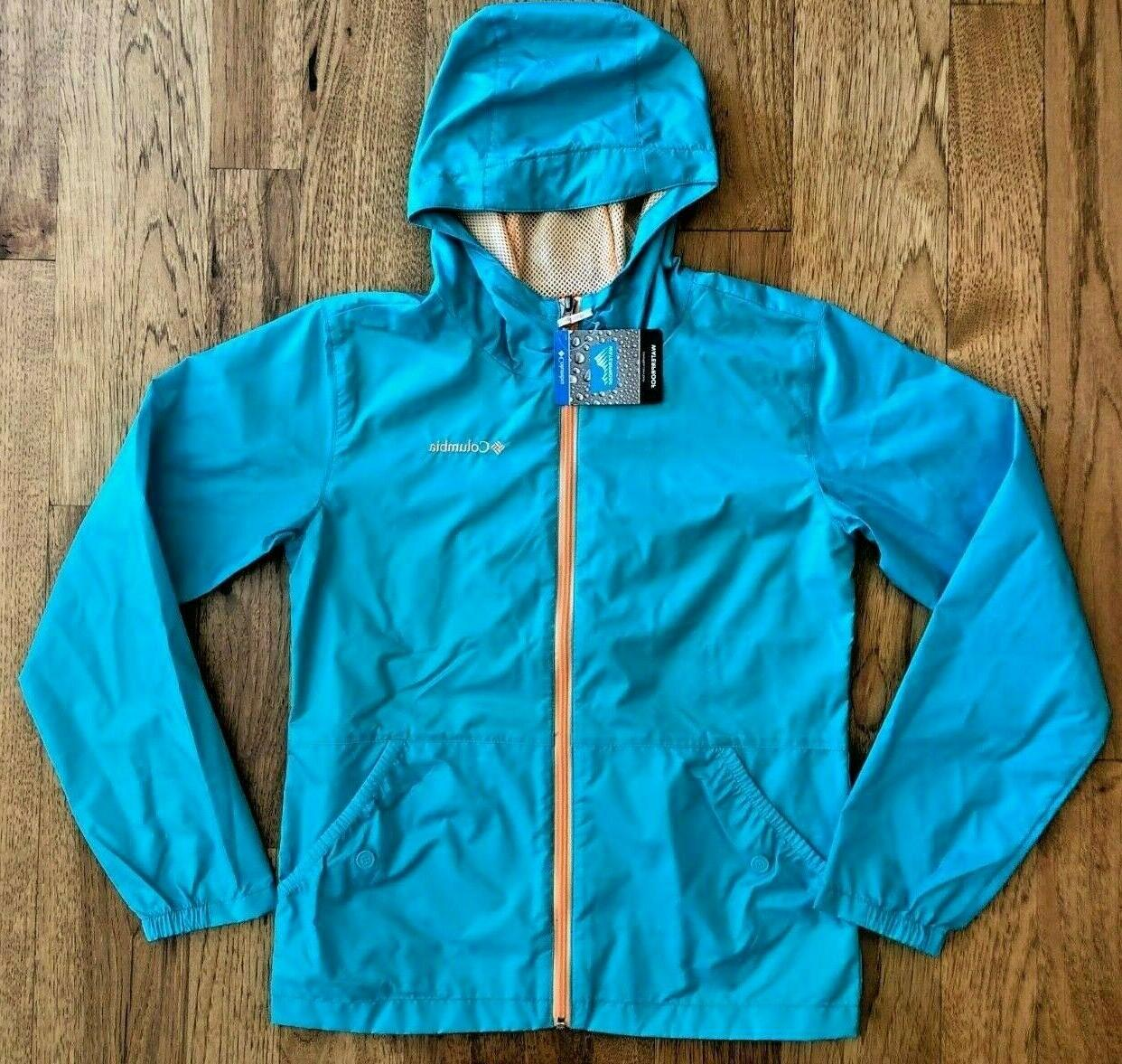 girls geyser wind rain jacket xs s