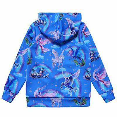 Jxstar Girls Hoodie Jacket Size 4-5Years/Height:43in