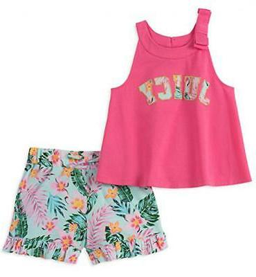 girls pink and mint 2pc short set