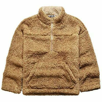 girls sherpa pullover zip up jackets kids
