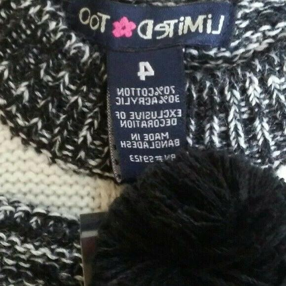 LIMITED Girls Size 4 Knit Hat NWT