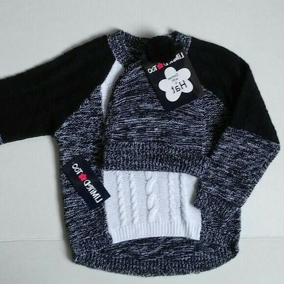 girls size 4 black white sweater