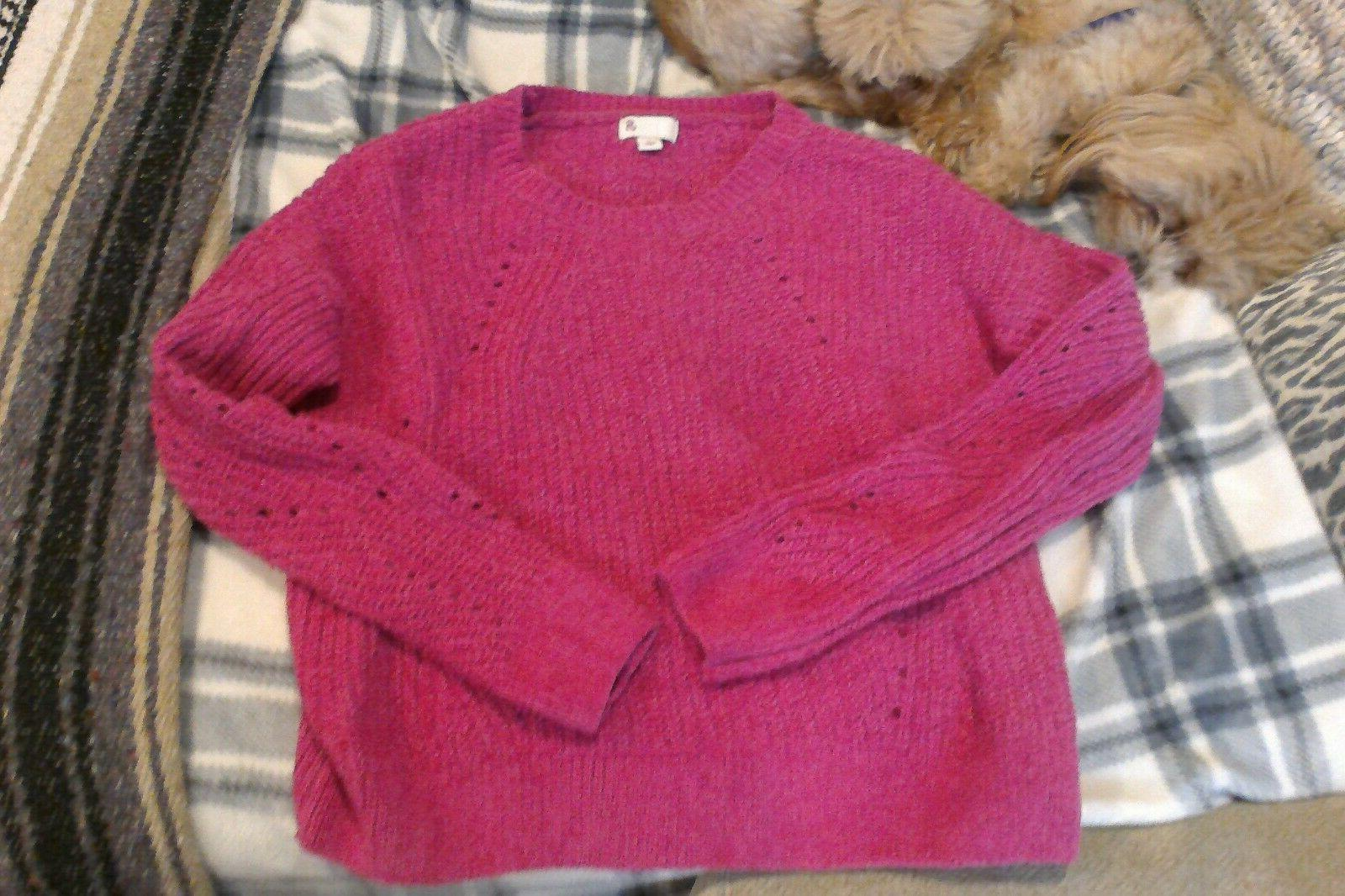 Girls sweater, girls clothing, size small, size 16, new Pink