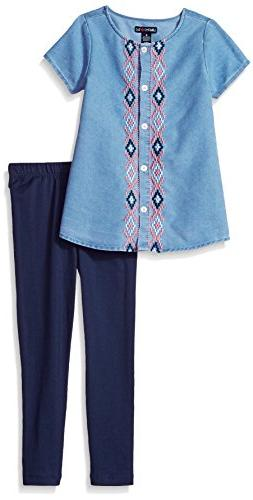 Limited Too Girls' Toddler Fashion Top and Legging Set , Por