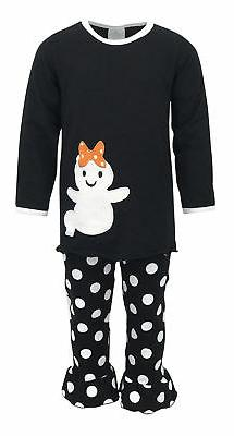 girls top pant ghost shirt halloween outfit