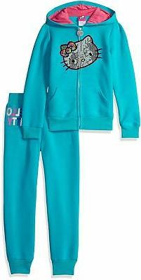 Hello Kitty Baby Girls' 2 Piece Hooded Fleece Active Set, Bl