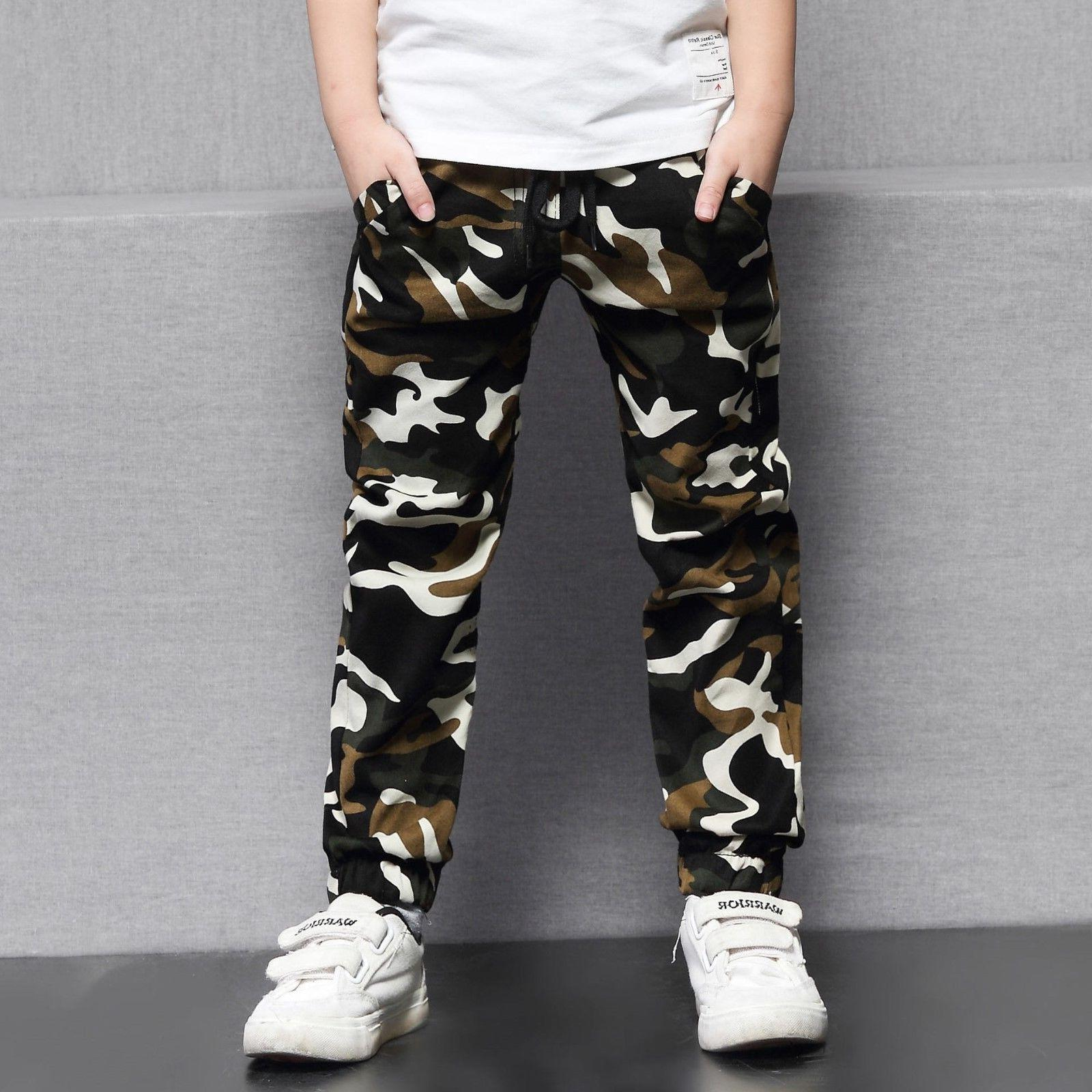 Kids Boys Clothing Clothes Pants Boy Camouflage Trousers