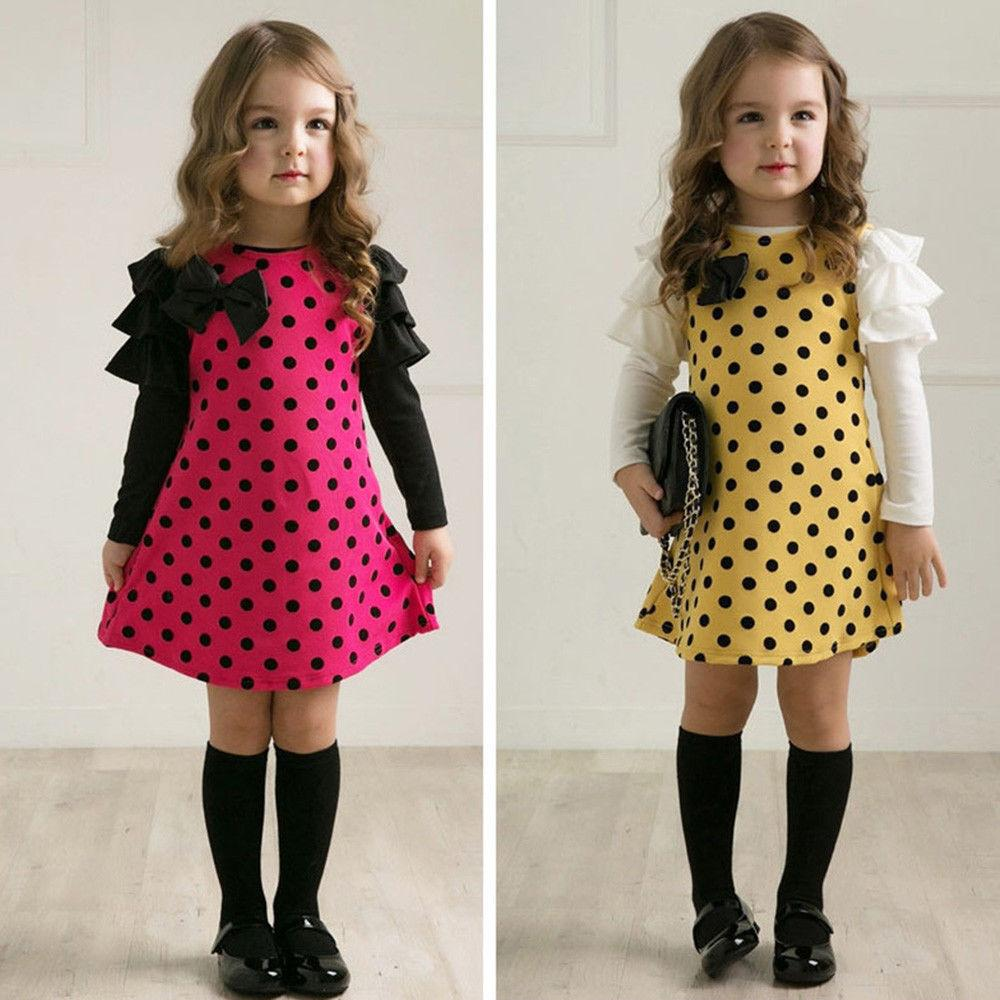 Kids Mini Dress Formal Casual Party Outfits