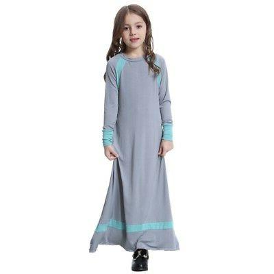 Muslim Girls Maxi for Holiday Abaya Gown