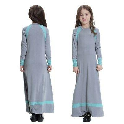 Muslim Maxi for Kids Sleeve Holiday Islamic Gown