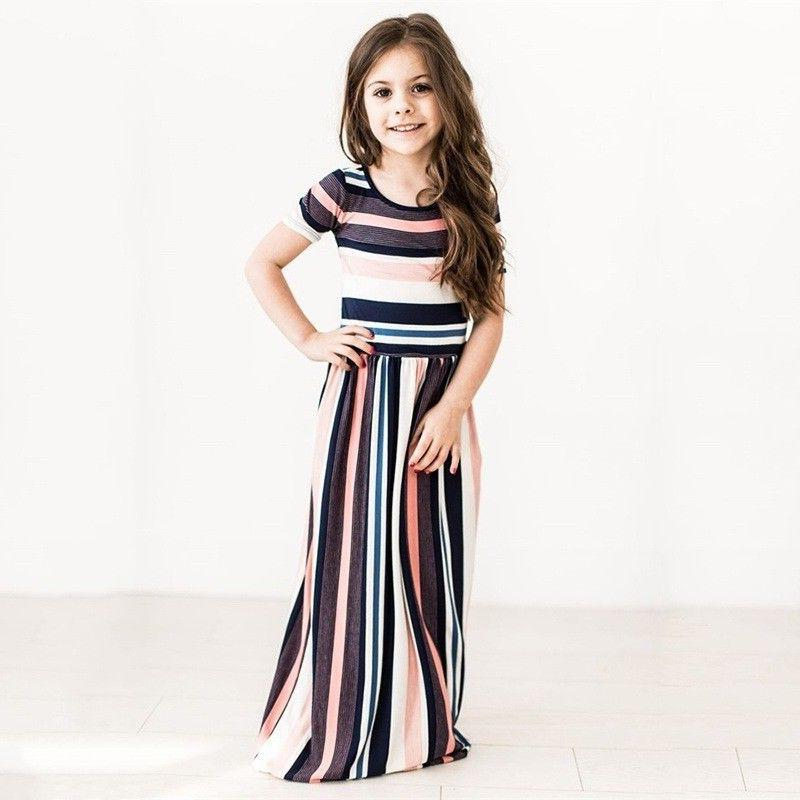 Kids Girls Sleeve Striped Party US