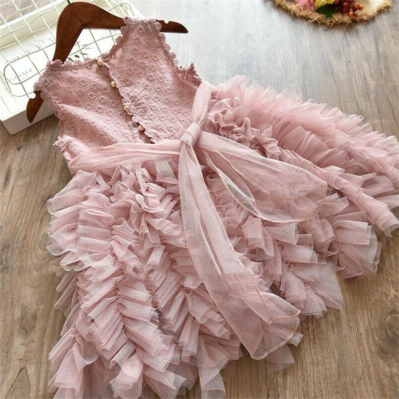 Lace Flower Girl Dress Kids Princess 8