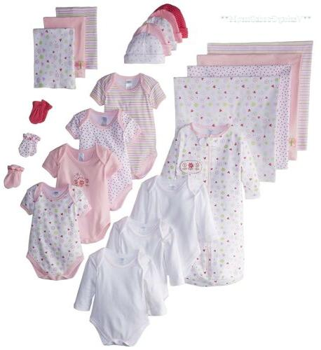 Baby Layette Set 0 - 6 Months Newborn Infant Girl Clothes Bo
