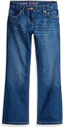 The Children's Place Girls' Little Bootcut Jeans, Indigo Sto
