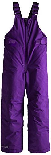 Columbia Little Girls'  Snowslope II Bib, Hyper Purple, XX-S