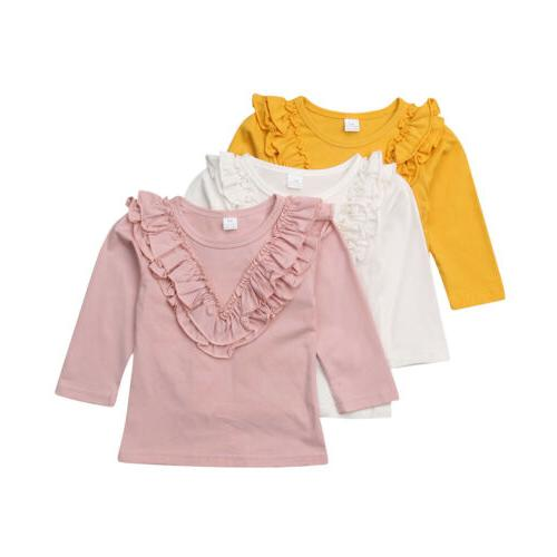 Long Ruffle Tops Clothes Kid Toddler