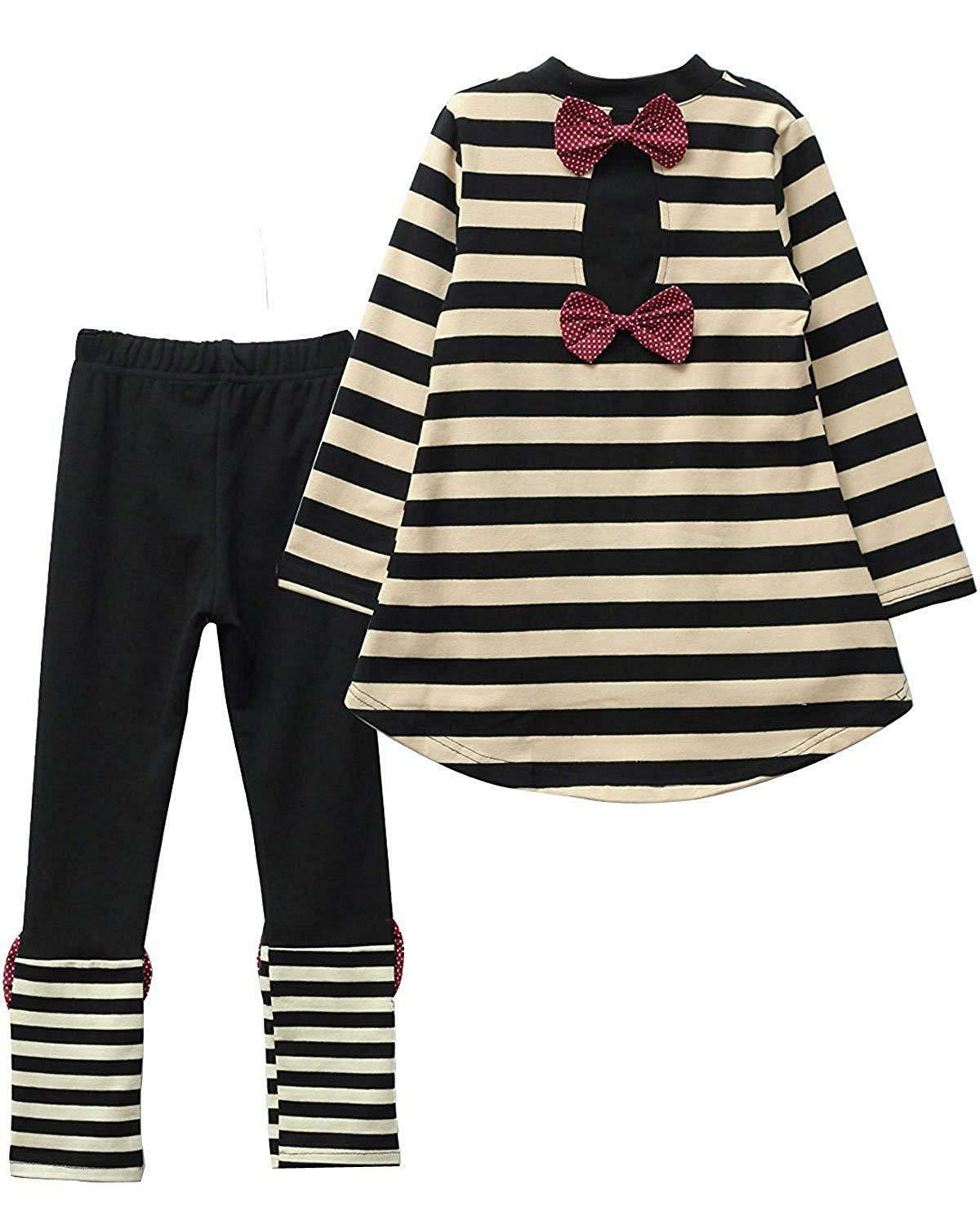 M RACLE Cute Little Girls' 2 Long Sleeve Top Pants Clothes Set
