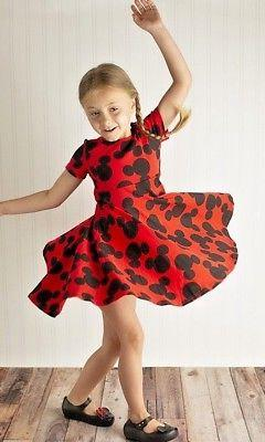 Mickey inspired Dress, girls outfit 2T 3T 4 5 6 7 8 9 Mouse
