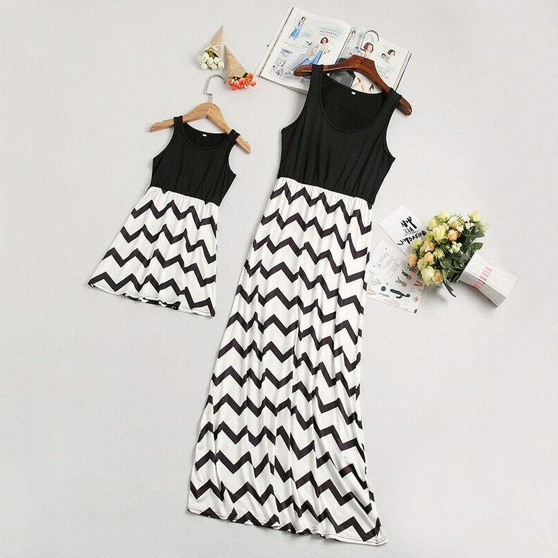 Mother Daughter Vest Dresses Mommy and Clothes Family
