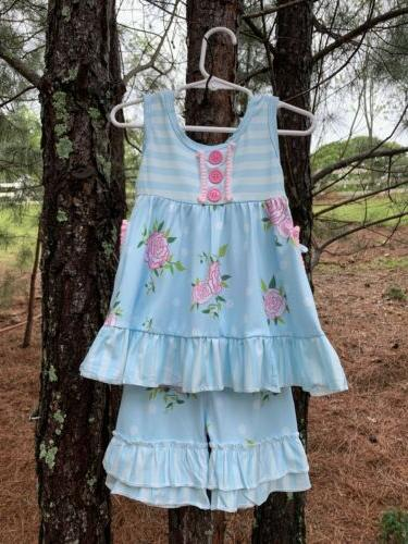 new boutique girls clothing sets summer 2t