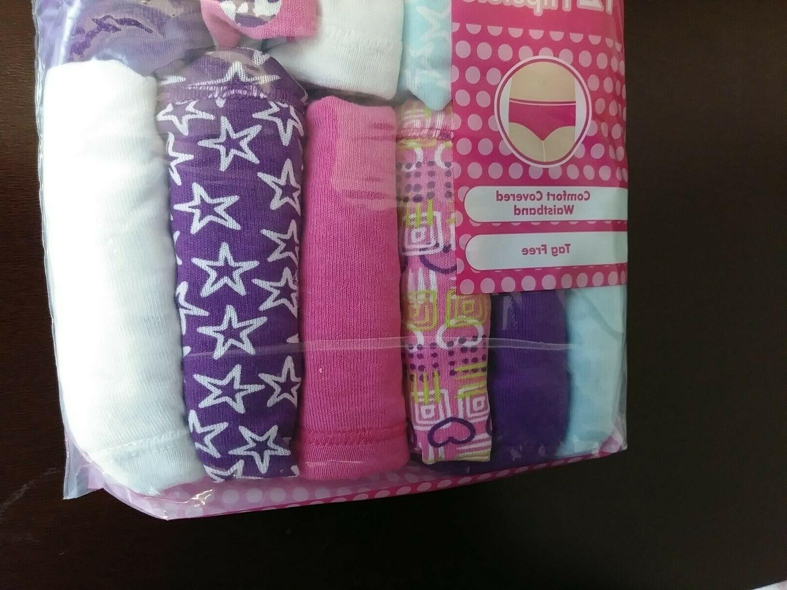 NEW Hanes Girls Cotton Pack Pink Stars Hearts 12