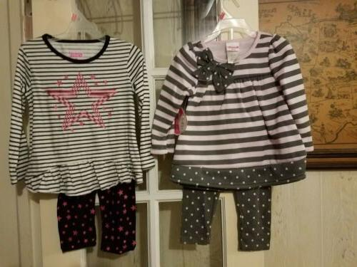 new lot of 2 toddler girls clothes