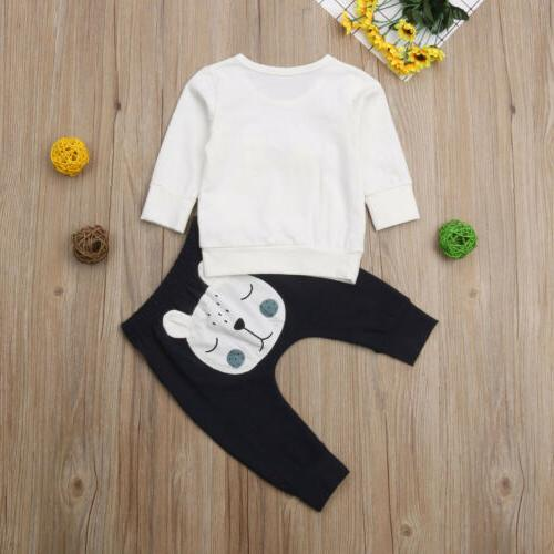 Newborn 3D Tops Sweater Long Outfits Clothes Set
