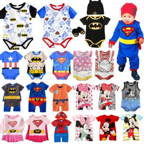 Newborn Baby Cartoon Playsuit Summer Outfits Jumpsuit