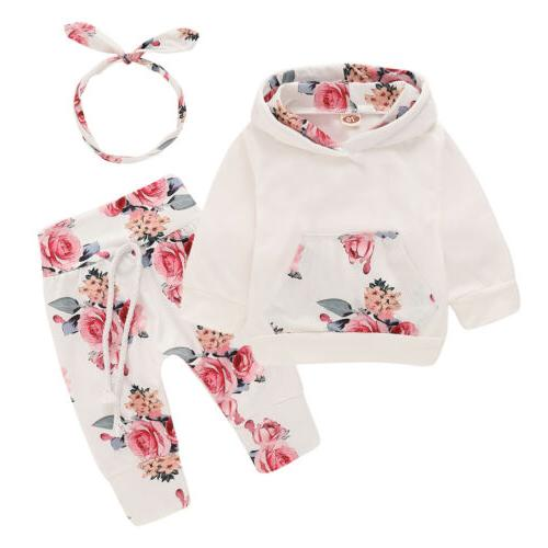 newborn baby girl clothes floral hooded tops