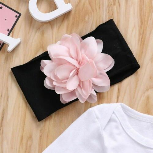 Newborn Baby Flower Romper Pants Outfit