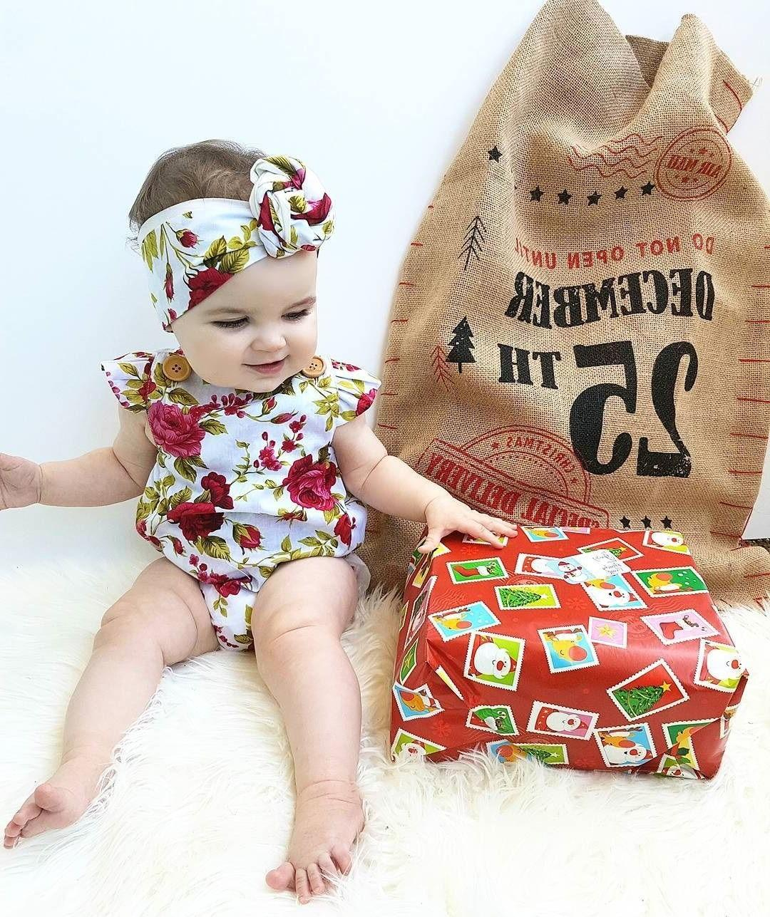 Newborn Flower Bodysuit + Headband Outfits