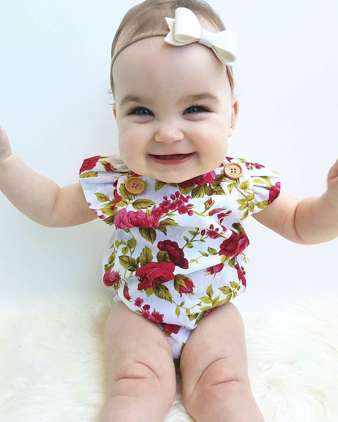 Newborn Flower Jumpsuit Romper Bodysuit + Outfits US