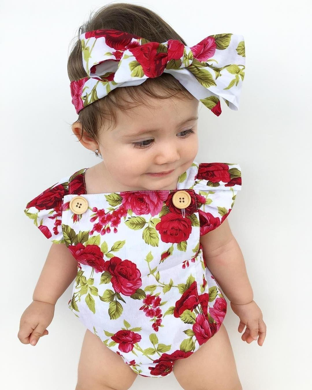Newborn Clothes Flower Romper Bodysuit + Outfits