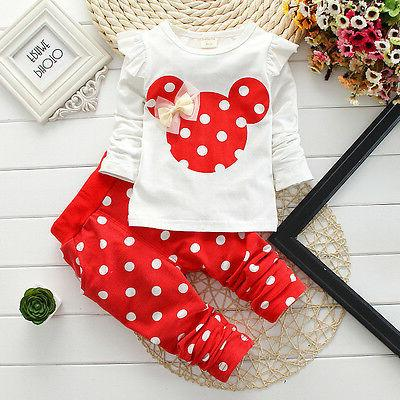 Newborn Mouse Outfits Tops Long Set