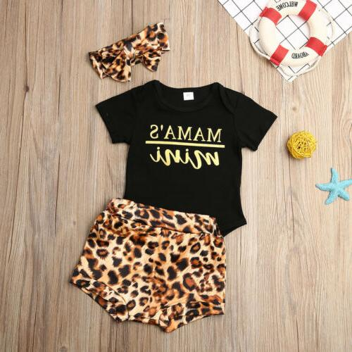 Newborn Infant Leopard Bodysuit Outfits