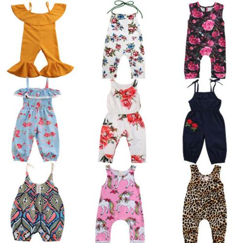 US Kids Baby Girls Floral Clothes ash