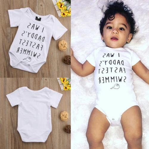 Newborn Baby Girls Bodysuit Jumpsuit Clothes Outfit
